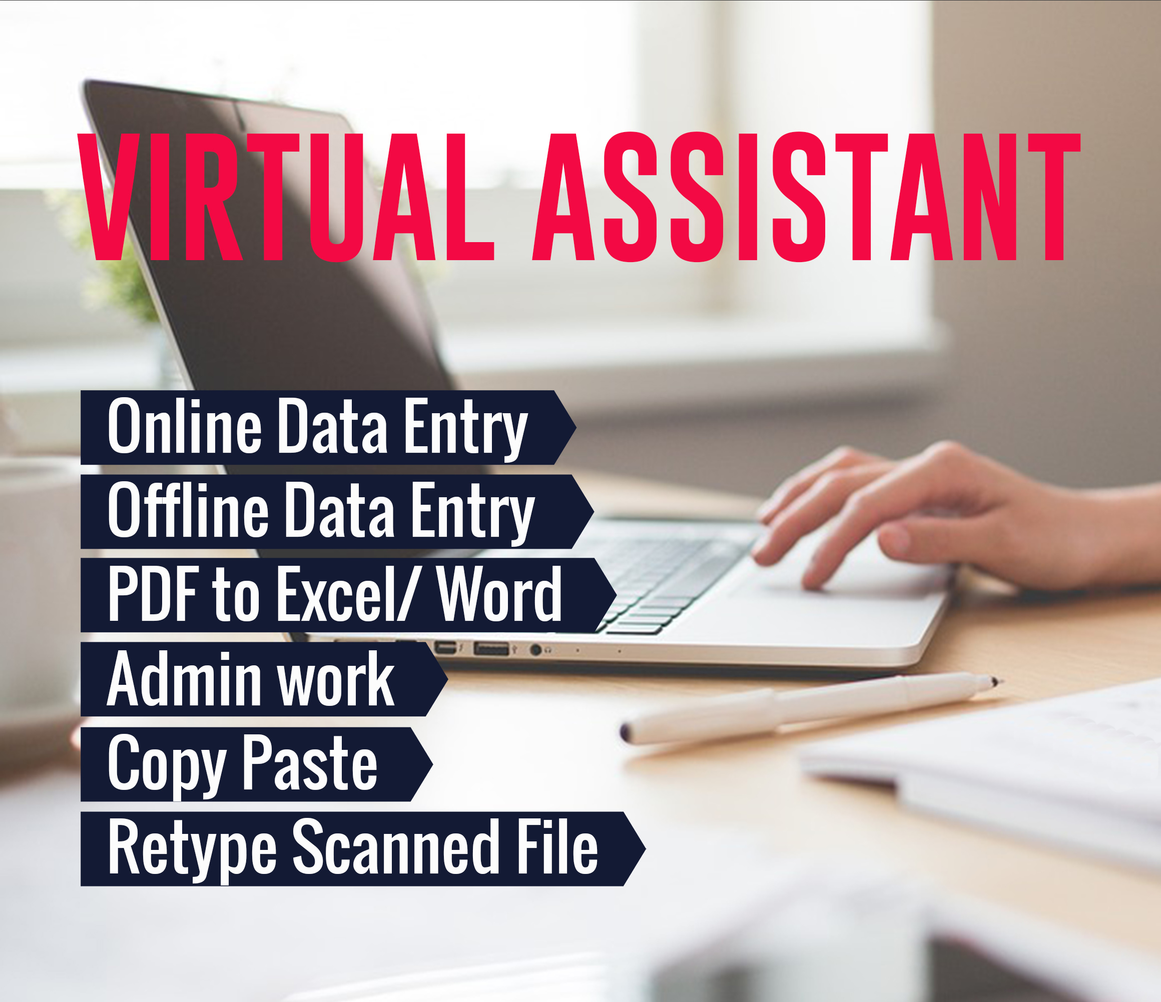 be your virtual assistant for web research,  data entry,  data mining,  excel