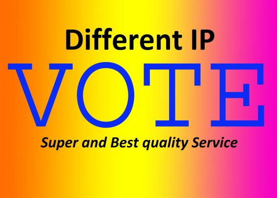 Promote 50 Unique IP votes super fast service