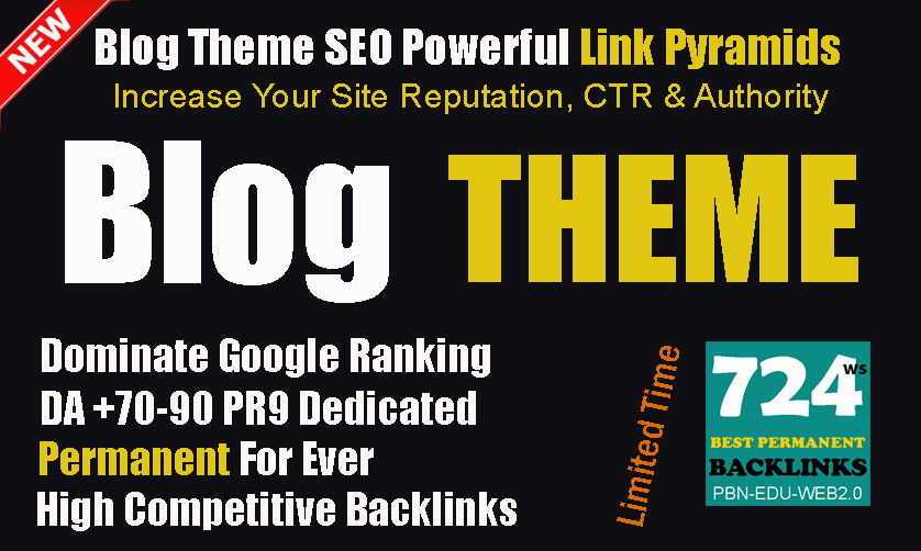 NEW Complete SEO Package 2020- Guaranteed Link Pyramids 2 Tiers Blog Theme Backlinks