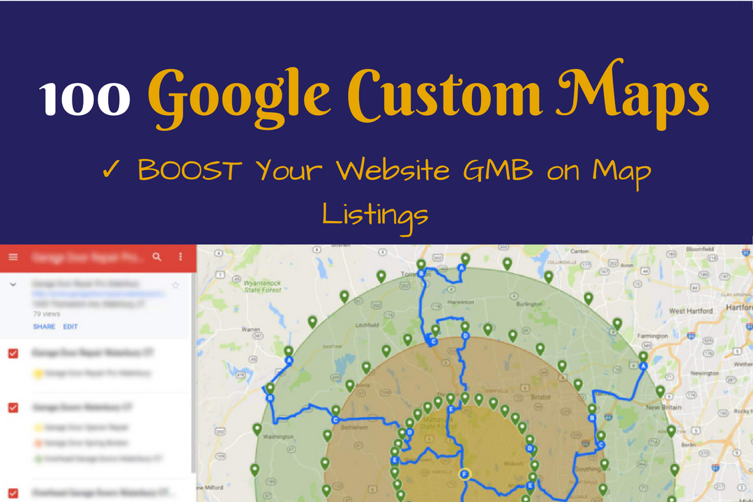100 Google Custom Maps,  Google Local Ranking
