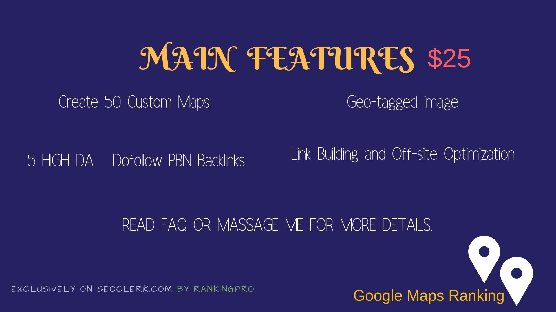 100 Google Custom Maps, Google Local Ranking