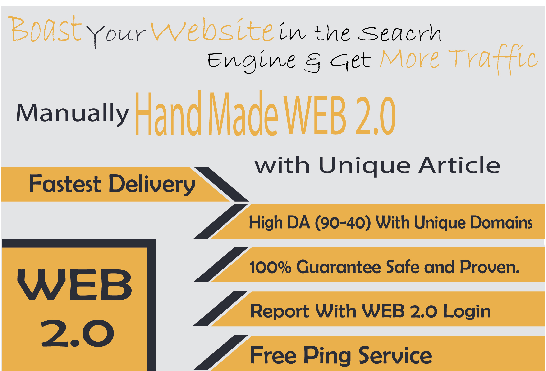 Manually Create Hand Made 25 Web 2.0 Subbmission With High DA 90-40