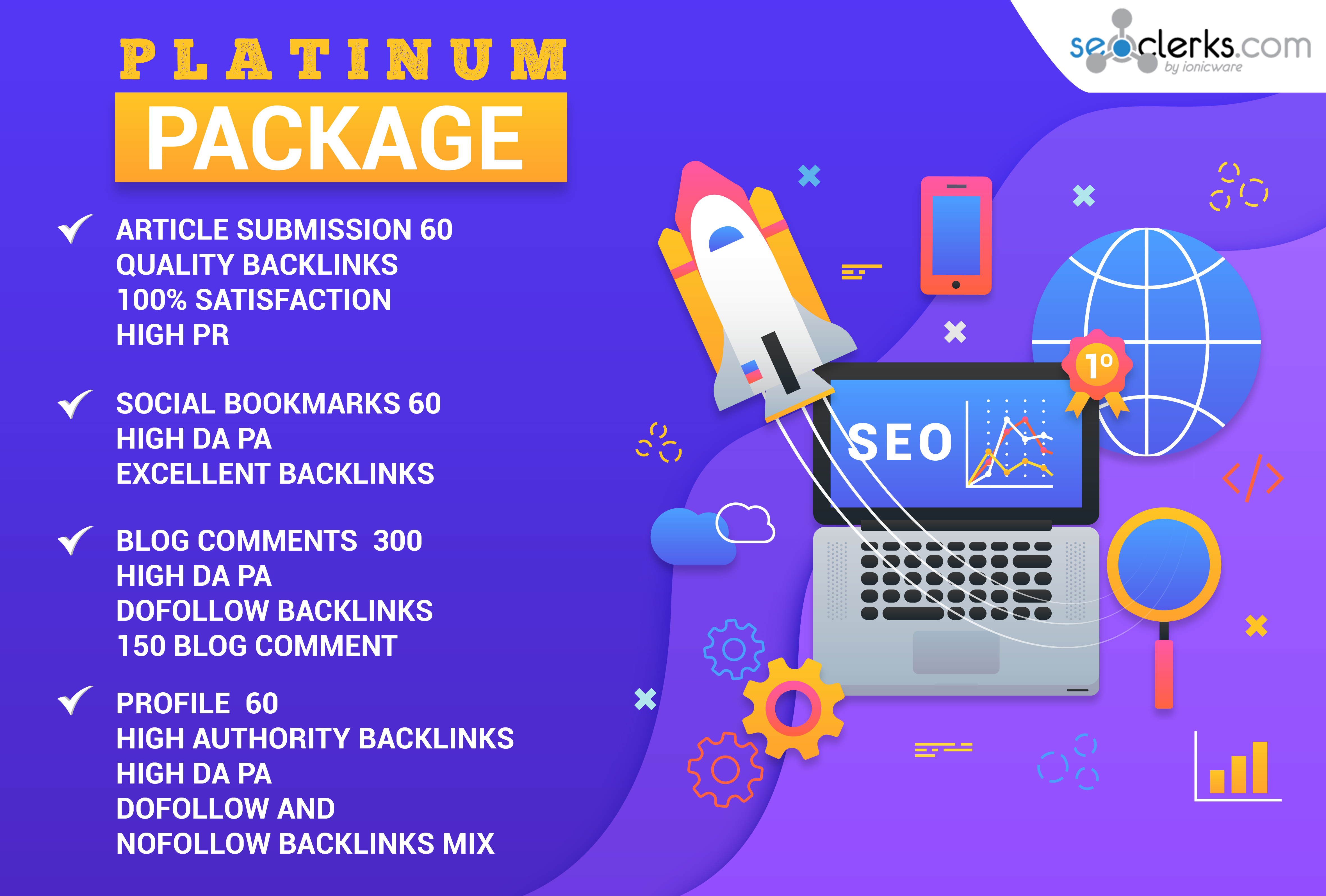 Provide Complete SEO Package For Your Website