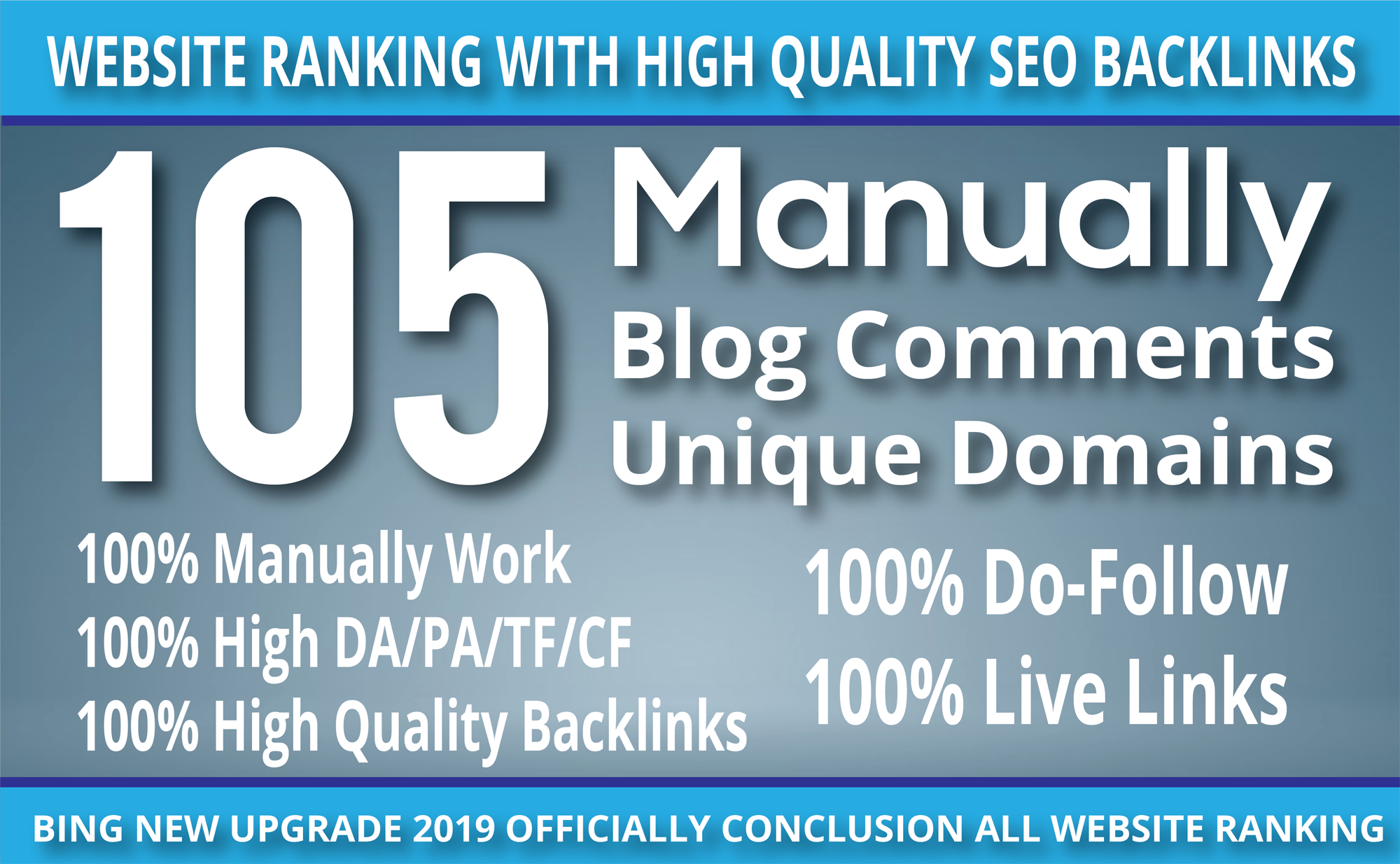 I Do 105 blog comment Seo backlinks ON High DA PA TF CF