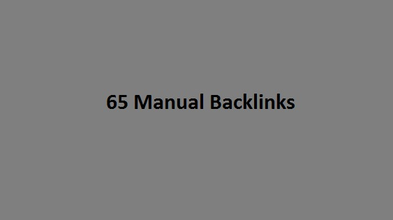 65 High DA Manual Backlinks