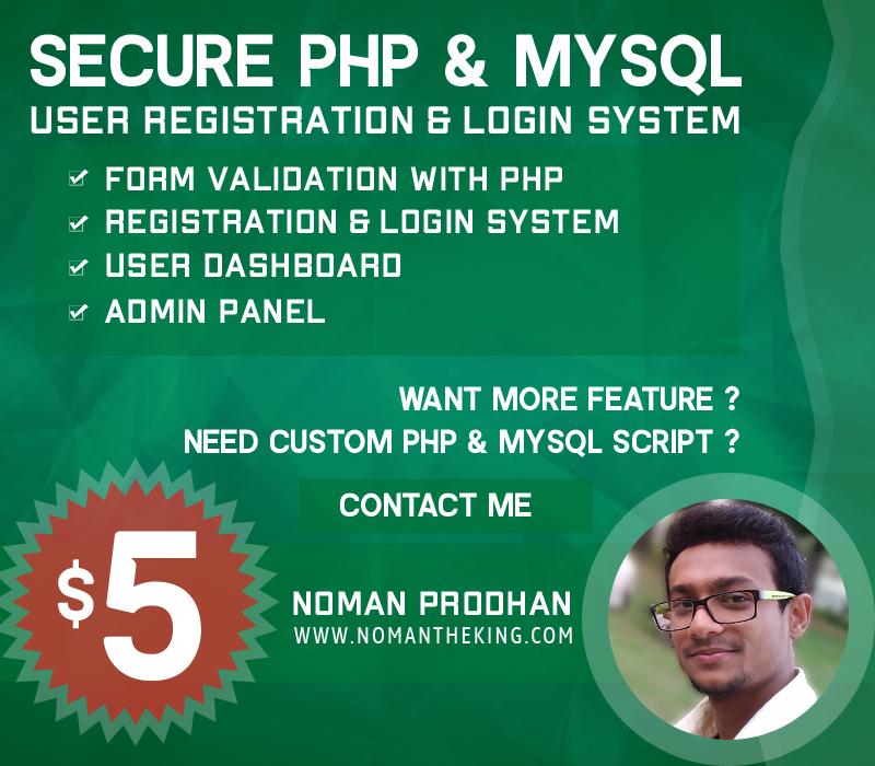 Secure PHP & MySQL User Registration and Login System