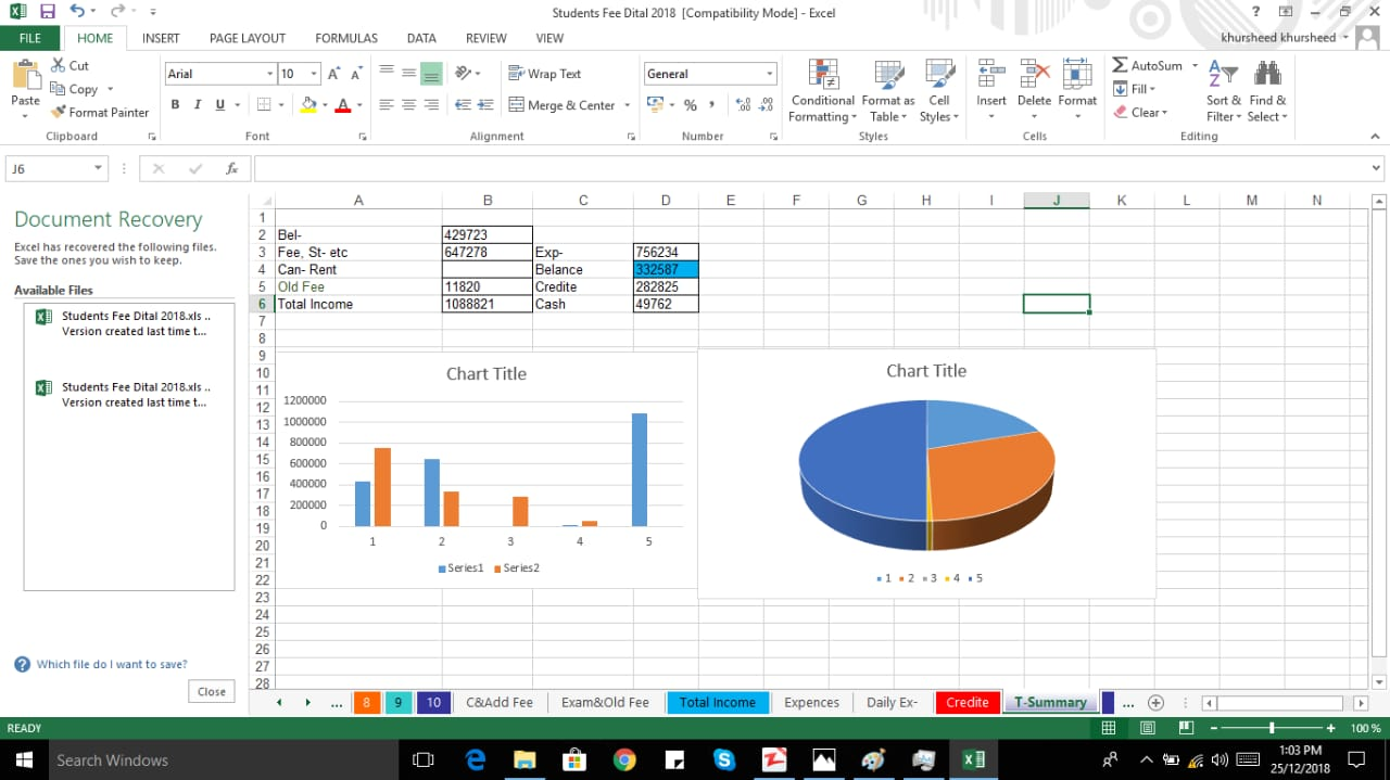 data entry,  tables,  chats