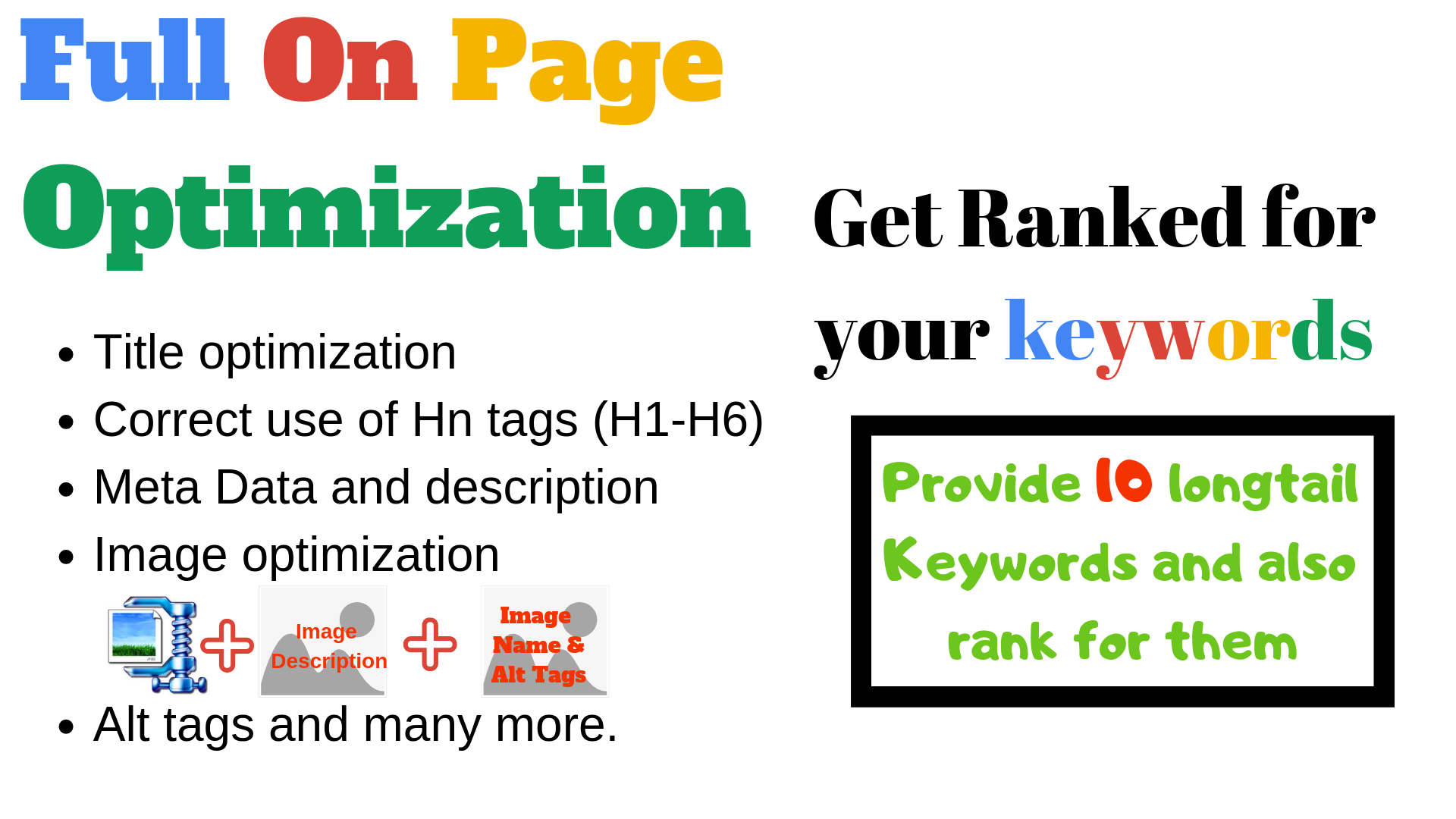 Do On Page SEO Of Your 5 Blog Post Or Page