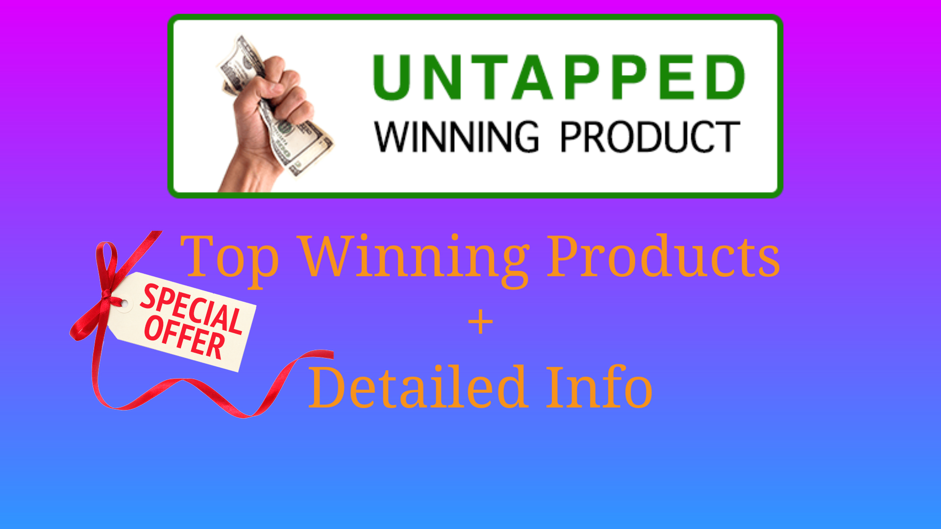 Provide Winning Products To Dropship Plus Detailed Info