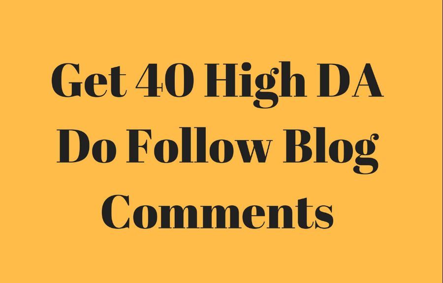Do 40 Backlinks in High PA/DA 20+ Do Follow Blog Comments Only
