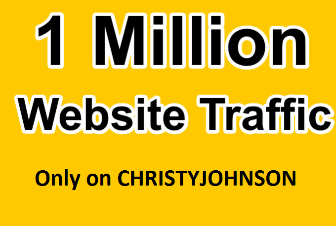 fast delivery 1 million real visitors to human website traffic