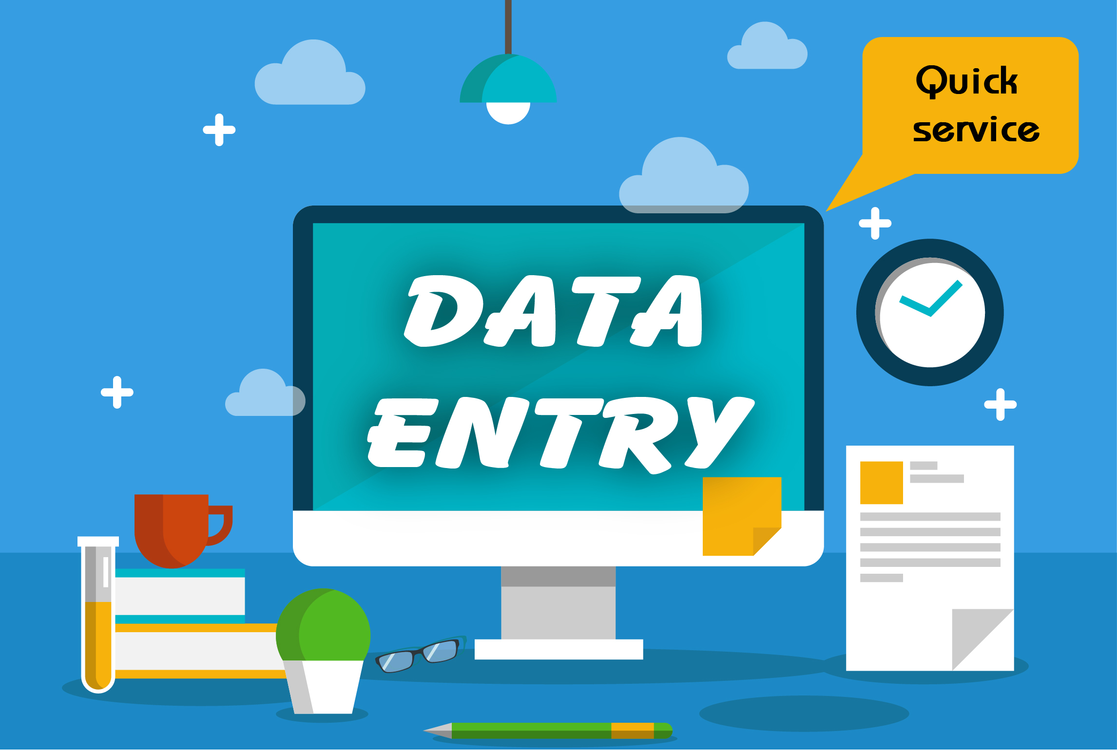 Data entry support only 3 USD per hour.