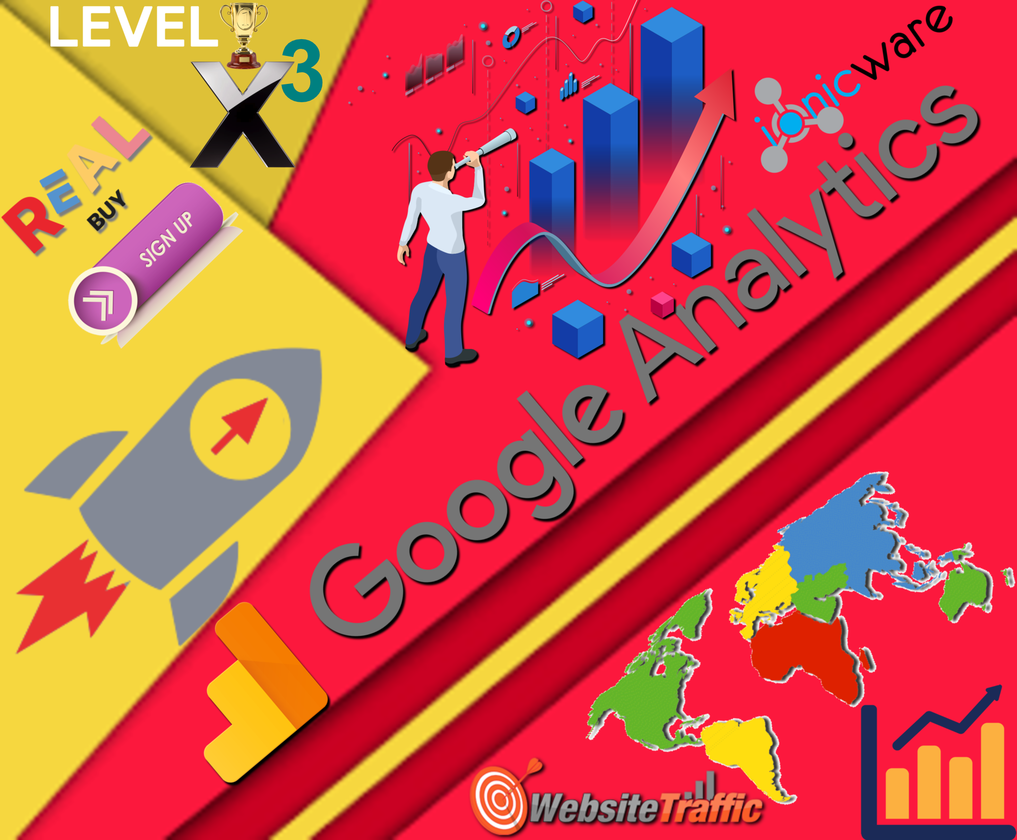 35,000 Worldwide USA Target Countries Google Analytics Website Traffic Visitors - 35 Referral CPA Affiliate Sign ups