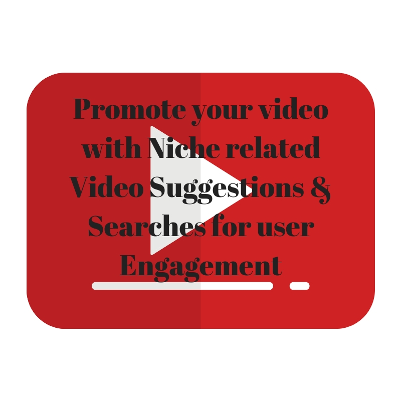 Promote your video with Niche related Video Suggestions & Searches for user Engagement