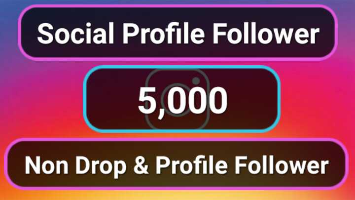 1,000+ High Quality Social Profile Followers in 2-3H Non Drop