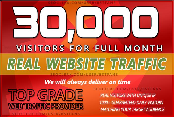 Send 30,000 keyword target Low Bounce Rate Website Traffic