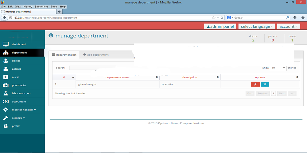 Custom Website Front-end and Back-end