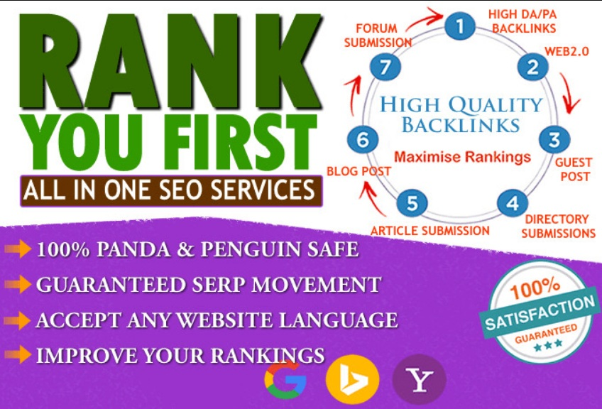 Rank your website Page 1 in Google with Powerful All in One Seo Backlinks Package for your website