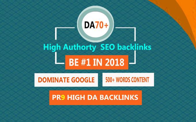 boost your google rankings high da SEO backlinks