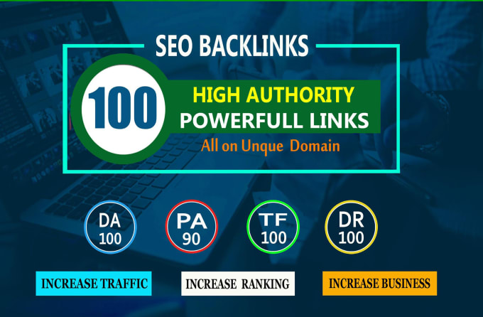 build 100 unique domain SEO backlinks on da100 sites