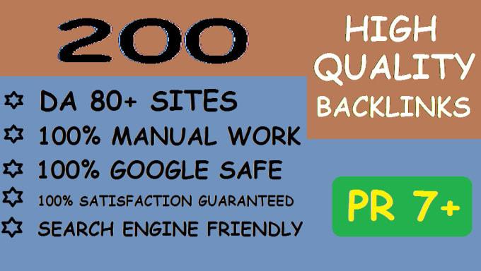 create 200 high quality backlinks for SEO
