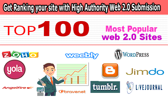 create high authority multi pages web 2 blog,  manual SEO backlink