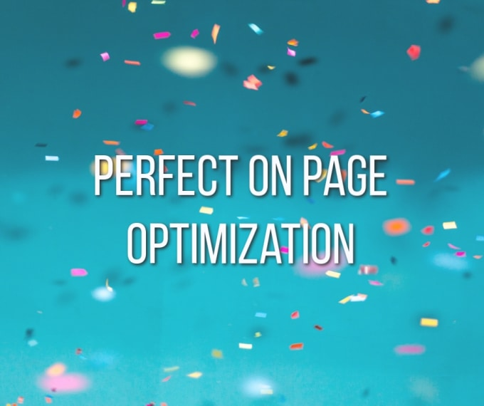 on page SEO optimization for a new page