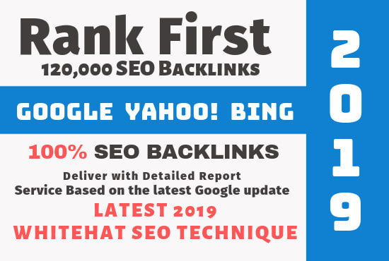 create 120,000 website seo backlinks for ranking in google