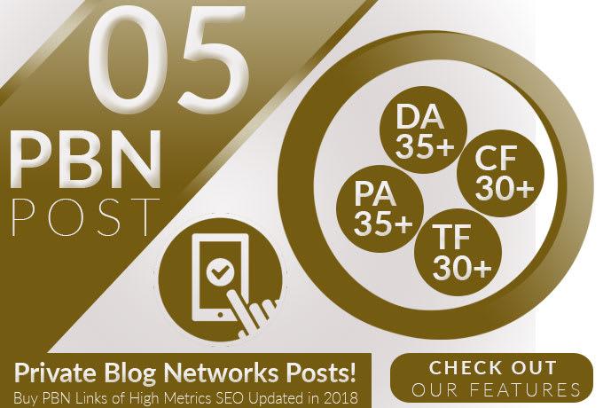 do 5 pbn post on high metrics SEO links