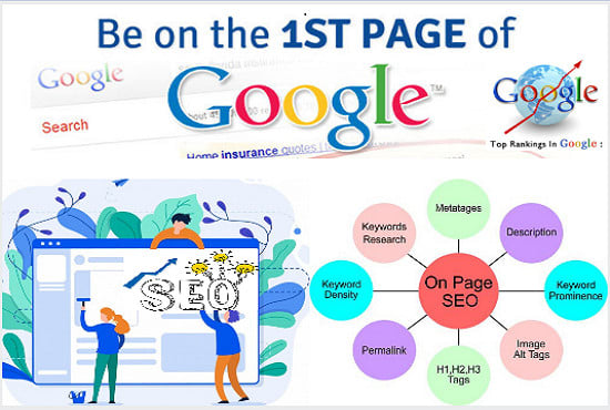 make your website highest rank by on page SEO