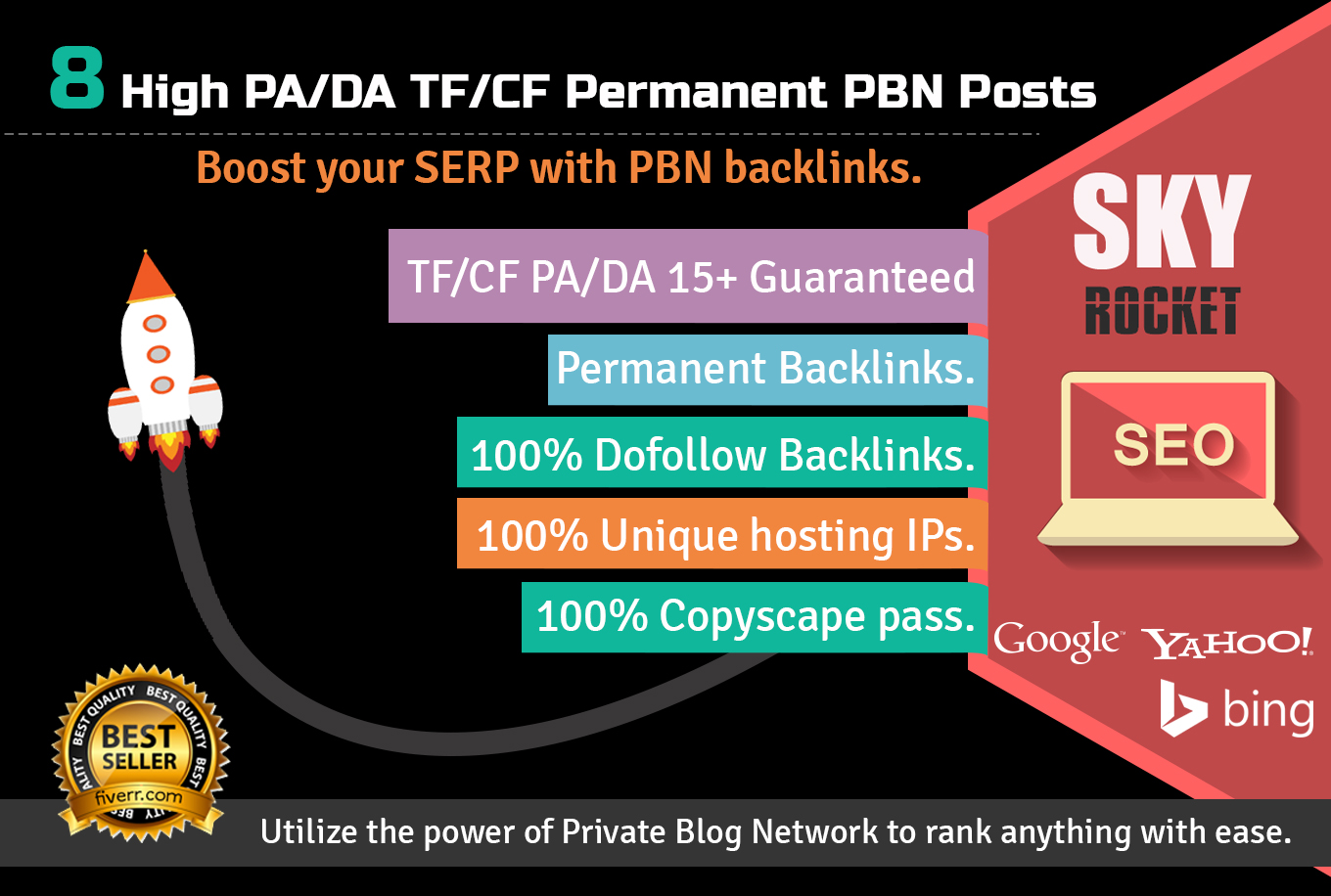 Create 8 Permanent Pbn Backlinks Posts