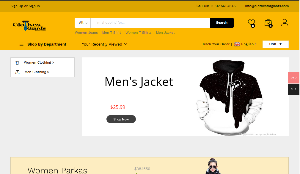 Create complete dropshipping website