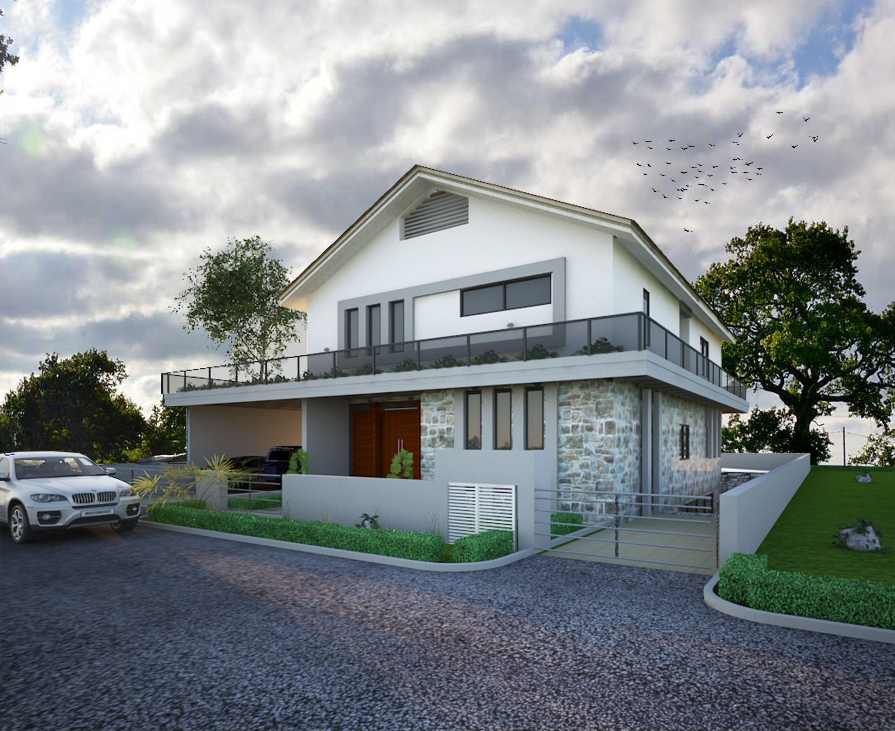 do PHOTOREALISTIC 3D rendering of your building
