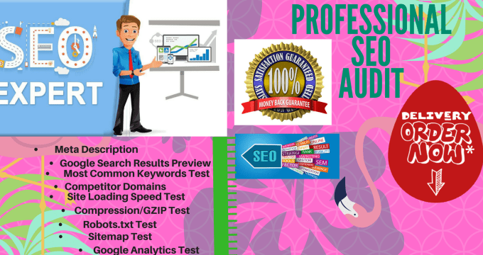 website analysis complite SEO audit report checklist on page optimize