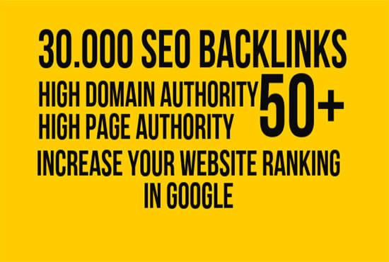 make high quality da 50 plus 5000 SEO backlinks