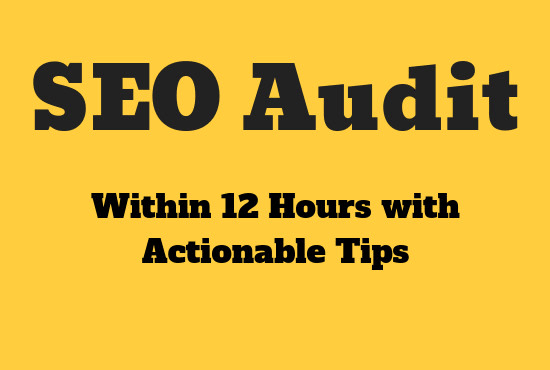 seo audit your website and provide actionable tips