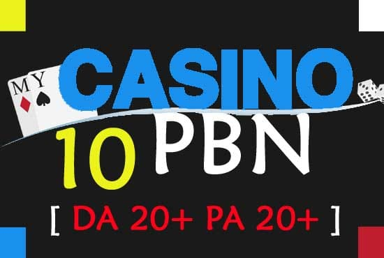 give you 10 casino pbn links form high matrics pbn network