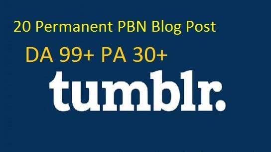 do permanent 20 tumblr pbn blog posts da10 to 50 and pa30