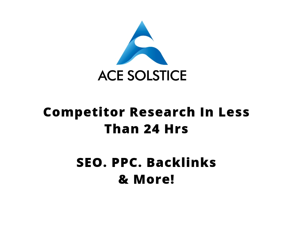 Do thorough research on your competitors in less than 24 hours - SEO, PPC, Backlinks and more!