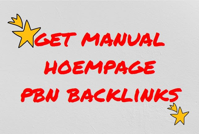build 100 manual home page pbn backlinks for promotion