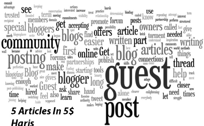 provide 5 articles for guest post or pbn