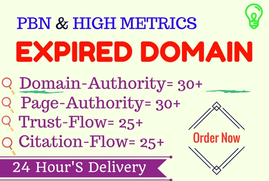 find high metrics expired domain for pbn