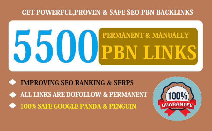 make 5500 dofollow pbn SEO backlinks for google ranking