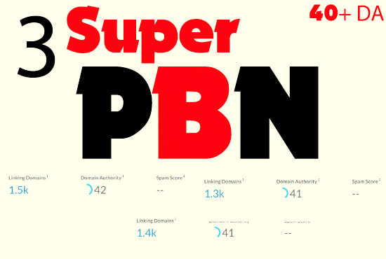 provide 3 super pbn backlinks 40 plus da