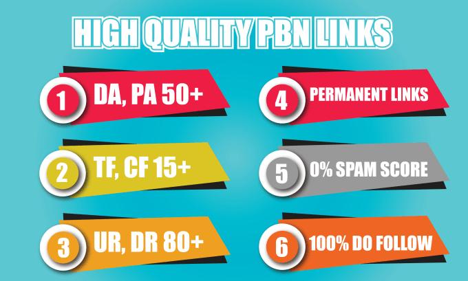 provide 30 homepage pbn backlinks da upto 50 tf upto 15