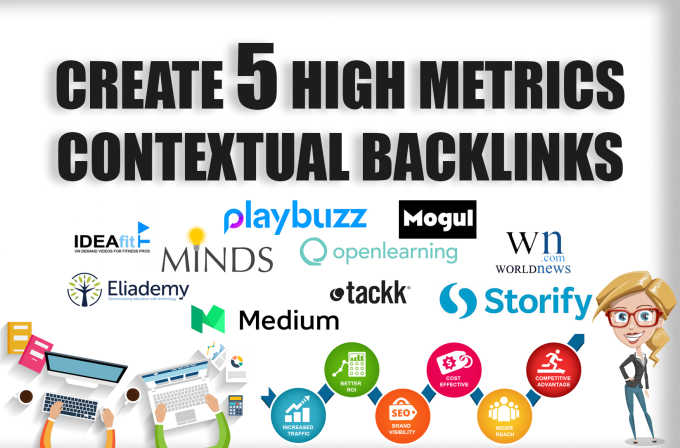 build 5 high metrics pbn posts with contextual backlinks