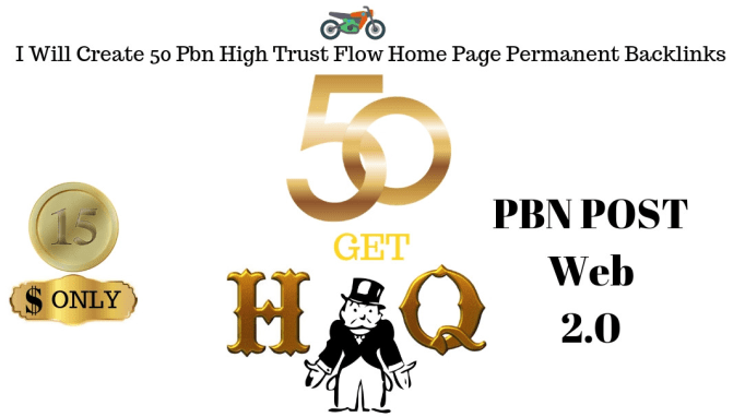 create 50 pbn high trust flow home page permanent backlinks