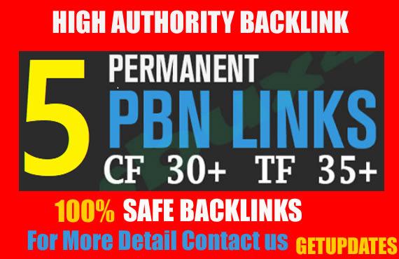 5 pbn backlinks high quality high tf cf