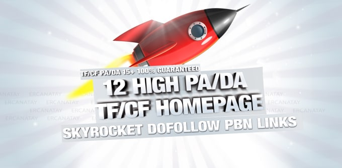 give you 12 high pa da tf cf homepage pbn backlinks