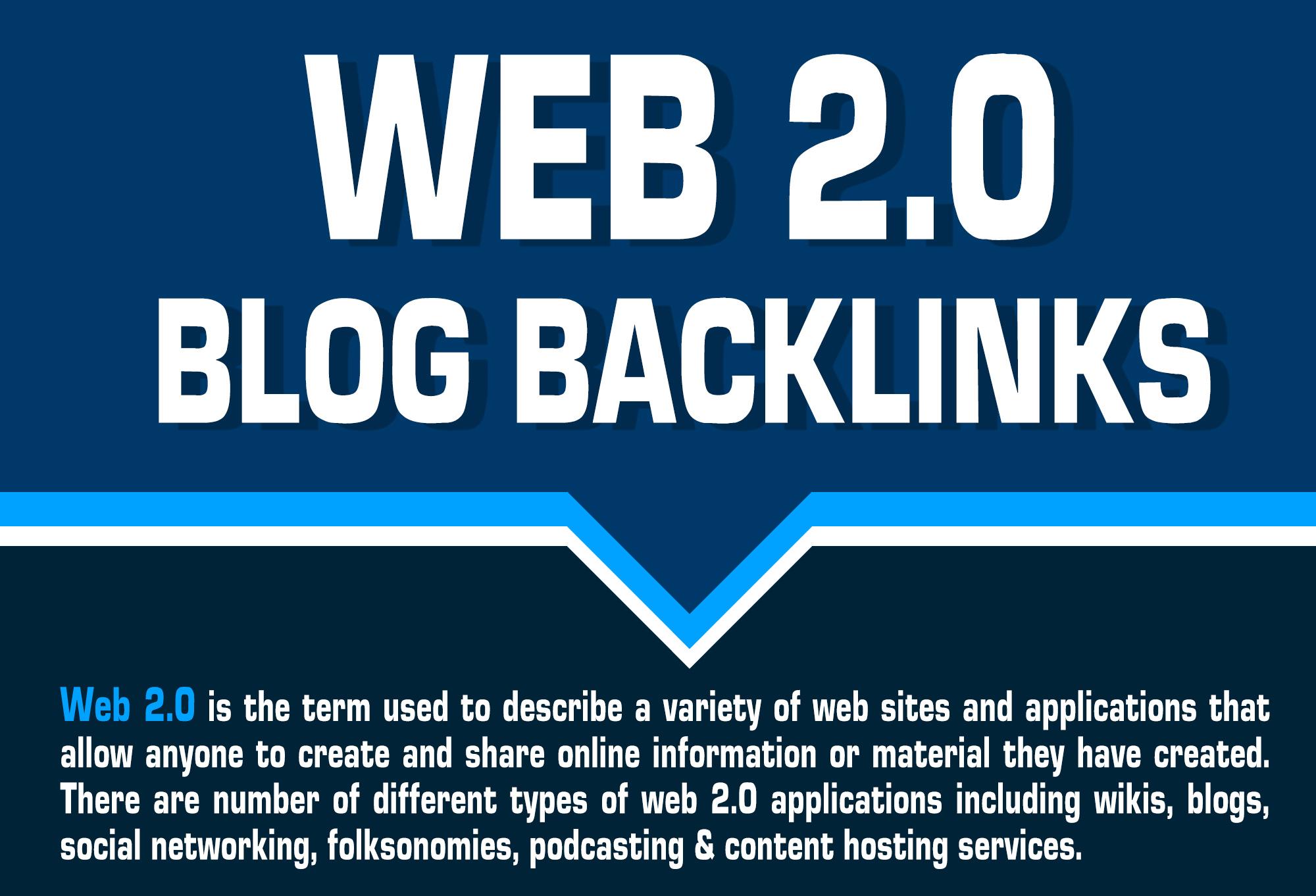 Provide Unique 20+ Web 2.0 blogs backlinks